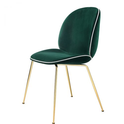 Gubi-Beetle_DiningChair_Conic_FullyUpholstered_Brass_GUBIVelvet-787_Piping_Luce-53_Front